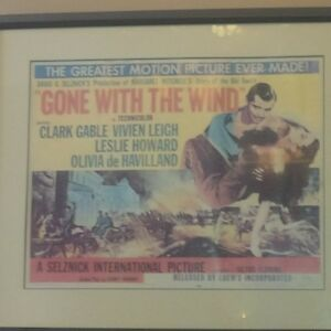 Gone with the wind, 1954, poster. rare