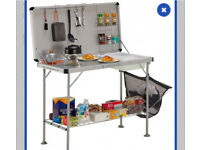 Camping table and sink unit