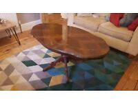 Wooden inlaid coffee/occasional table - Antique French style