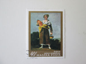 Postage Stamp from HungaryGoya Leany Korsoval Magyar Posta Used