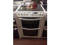 White Hotpoint Reconditioned 60cm Electric Cooker, Birmingham