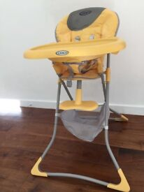Graco yellow high chair for sale