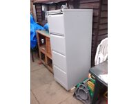 Bisley BS4E flush front x4 drawer flight grey filling cabinet