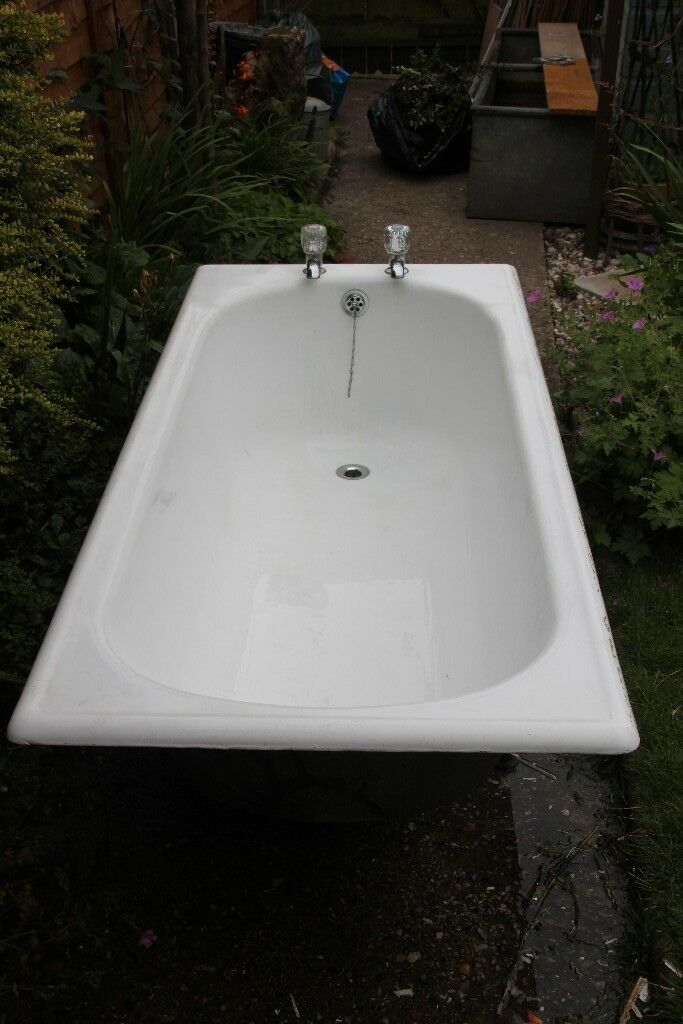 Used 1680mm long cast iron bath, taps included | in Norwich ...