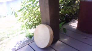 Native drum made from real dear hide and cedar