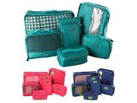 7pcs Travel Luggage Storage Bag Packing Clothes Socks Make-up Organizer