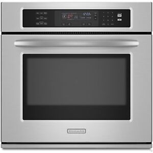 "27"" KitchenAid KEBS177SSS Stainless Steel Electric Wall Oven"
