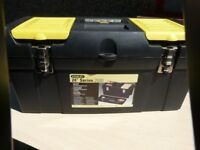 24 inch stanley tool box complete with various used tools as per photo