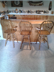 Bar and 3 swivel bar chairs all for $350