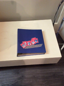 Upper deck binder of hockey cards and miscellaneous cards