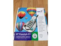 BT BRAND NEW FREESTYLE 65 CORDLESS TELEPHONE WITH DIGITAL ANSWERING MACHINE