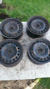 4 steel rims 5x110 , off 2005 Malibu will fit other makes and m