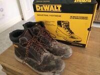 Size 12 Dewalt Steel toe cap work boots (1 day old!)