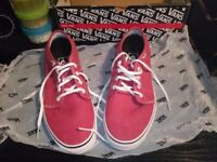 Mens red off the wall vans trainers size 8 size 9 brand new