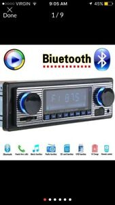 Vintage look car stereo NEW