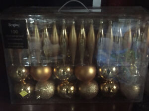 New Gold Christmas Decorations