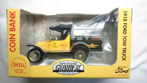 GEARBOX DIE CAST 1918 FORD TOW TRUCK SHELL GOODYEAR DIE CAST NIP