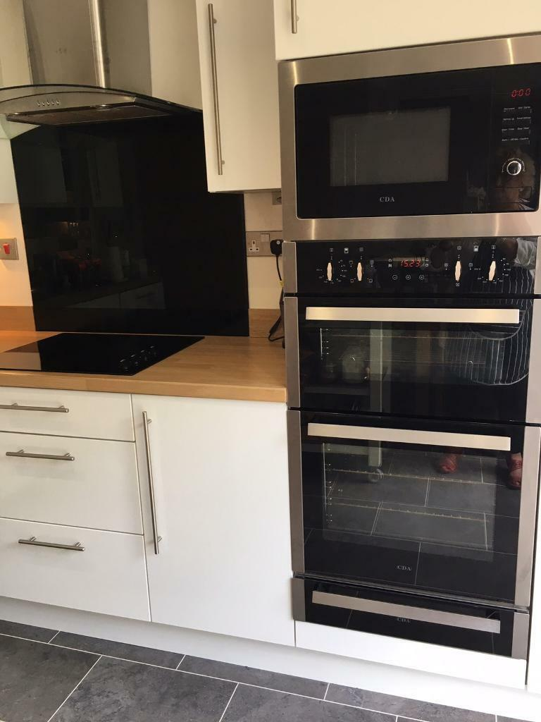 Built In Double Oven Also Microwave And Grillceramic
