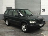 LAND ROVER RANGE ROVER 2.5 DHSE AUTOMATIC 2001/51 EPSOM GREEN FULL CREAM LEATHER 14 SERVICE STAMPS