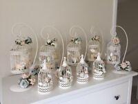 Wedding Decorations - Vintage style/shabby chic, birdcages, candles bundle of stuff