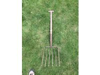 Old farm tool root crop fork lot 3