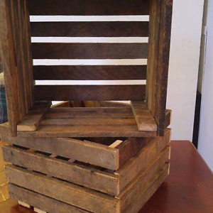12x12x8 crate made from tobacco slats