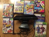 Kinect for Xbox 360 with 7 games