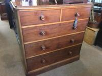 Victorian mahogany bedroom chest of drawers