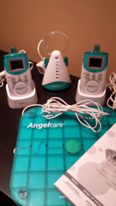 Angel care baby monitor (base, 2 handsets and heart monitor)