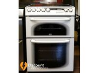 60cmcm Hotpoint Ceramic Cooker, Double Oven / Grill ( Fan Assisted) - 6 Months Warranty
