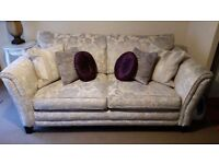 DFS Hogarth floral 3 seater and striped 2 seater sofas