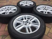 "Genuine 16"" Mini Cooper R119 6 Star Twin spoke Alloy wheels and Bridgestone tyres"