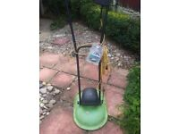 Small lightweight electric lawnmower