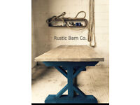 New **The Knights Rose** Handmade Rustic Farmhouse Dining Table ** Reclaimed Wood