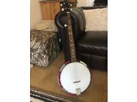 Martin Smith 5 string Banjo with case