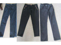 Ladies Jeans and other trousers, size 8. £1.50 - £2.50 each