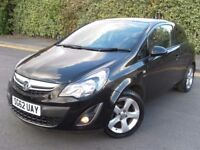 2012 BLACK CORSA 1.2 SXI SPORTY 3 DR LOW MILEAGE CHEAP TO RUN GREAT CONDITION