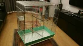 Parrot cage with everything