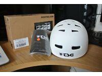 Skate/BMX TSG White Helmet