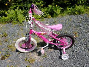"14"" princess bike with training wheels"