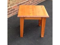 Solid pine coffee table still available