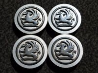 4 x Vauxhall Alloy Wheel Centre Caps Vectra Astra