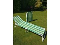 2 IKEA folding sun lounger adjustable garden chairs