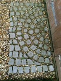 Paving B and Q cobble mat