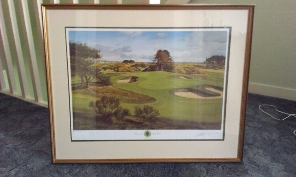 d5eea1b4becf Graeme W Baxter Golfing Print 13th hole Carnoustie Framed. Blairgowrie