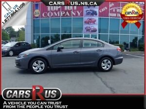 2014 Honda Civic LX Only 34,000kms Was $15,995 Now $14,995!