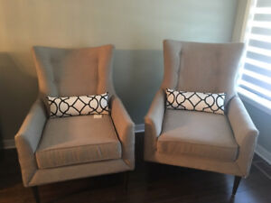 **MINT CONDITION** LIGHT GREY, FAUTEUIL, CHAIR, CHAISE