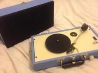 Steepletone Vinyl Player Blue