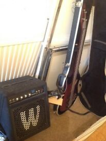 IBANEZ SR500 With AMP (WARRICK) 30AMP