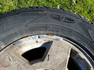A Set of GoodYear Tire on Rims (265/70/R17)